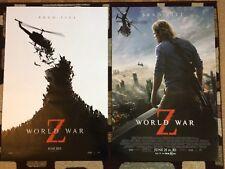 World War Z Original Movie Poster 27x40 Lot Of 2 2013 Brad Pitt