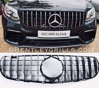 Mercedes GLC X253 Grille AMG 63 Look Panamericana GT Grill Black And Chrome 360