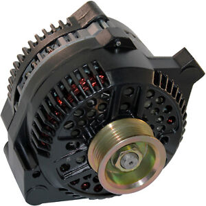 NEW BLACK 250AMP HIGH OUTPUT ALTERNATOR FOR FORD MUSTANG ONE 1-WIRE 1965-1996