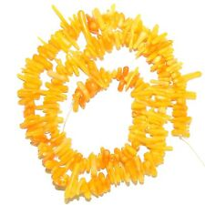 """CRL123 Yellow Orange Bamboo Coral Cupolini 4mm - 12mm Freeform Branch Beads 16"""""""