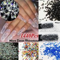 1440PCS Glitter Crystal Rhinestone 3D Jewelry Glass Diamond Gems Nail Art Decor