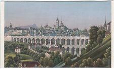 Rudolf Dikenmann: Lausanne. Prächtige hand-kolorierte Ansicht um 1865