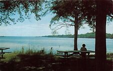 BATH NORTH CAROLINA OLDEST TOWN IN NC~VIEW PAMLICO RIVER POSTCARD 1960s