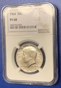 1964 Silver Kennedy Half Dollar NGC PF 68