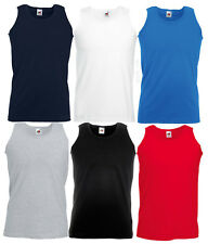 Fruit of the Loom Mens Athletic Vest Plain Tank Top - S, M, L, XL, 2XL