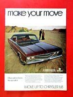 "1968 Chrysler New Yorker Make Your Move Original Print Ad 8.5 x 11"""