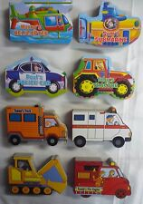 Vehicle Shaped Early Reading Colourful Board Books (8 to Choose from)