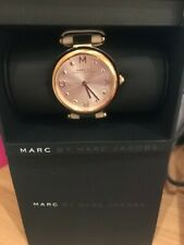 Marc jacobs watch rose gold with leather strap