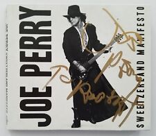 "Joe Perry Signed Sweetzerland Manifesto CD Digipak Aerosmith LEGEND ""To Robert"""
