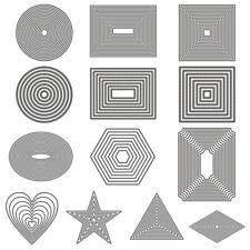 Basic Grenze Rahmen Set Stencil Cutting Dies Scrapbooking Stanzschablone Album