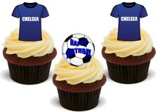 Football Chelsea Happy Birthday Mix Stand Up Premium Card Cake Toppers