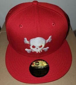 Supreme Skull New Era Hat Cap Red7 3/8