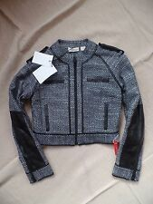 New Sass & bide Oh yes Motorcycle Jacket Navy/black Size 4 US, 8 UK $490
