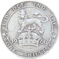 1902 TO 1910 EDWARD VII SILVER SHILLING CHOICE OF YEAR / DATE