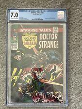 STRANGE TALES #155 * CGC 7.0 * (MARVEL, 1967)  STERANKO! NICK FURY! DR. STRANGE!
