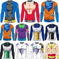 Mens Long Sleeve T-Shirt Blouse Dragon Ball Z Compression Sports Muscle Tops Tee
