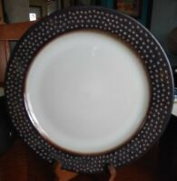 "Lot of 2:Threshold Barnet Bronze Dinner Plates 10 1/2"" Stoneware Excellent L@@k!"