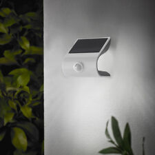 solar LED Wandleuchte Wandlampe mit Bewegungsmelder Strahler Edelstahl SO36
