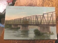 Postcard DIXON Illinois/IL  Galena Street Steel Bridge view 1917