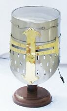 Knight Templar Crusader Helmet Medieval Armor Roman  Fully Wearable with Liner