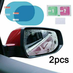 2 Pcs Rainproof Car Wing Mirrors Anti-Fog Protective Film Sticker Rain Shield UK