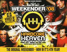 HARDCORE HEAVEN WEEKENDER 2008 Classic Rave Flyer