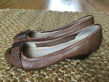 Joanne Mercer Brown Leather Slip On Wedges Size 6 Hardly Worn