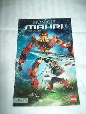 LEGO Book Instructions ONLY BIONICLE MAHRI 8911 TOA JALLER YEAR 2007 VINTAGE