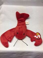 Retired TY Beanie Baby - Pinchers The Lobster - With Swing Tag Typo Error