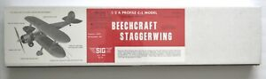 Sig Beechcraft Staggerwing Control Line Model Airplane Kit NIB