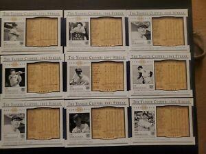 2003 Upper Deck Play Ball Yankee Clipper: 1941 Joe DiMaggio Streak 9 Card Lot
