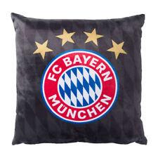 Kissen schwarz Baumwolle Logo Dekokissen FC Bayern München 22872 FCB Fanartikel