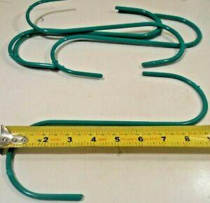 """S HOOKS 5PC. S-HOOK 10"""" INCH JUMBO STEEL GREEN PVC COATED PLANT HANGER"""