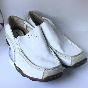 SKECHERS Slip On Leather Loafers Casual Moc Toe 61190 White Men's size 12