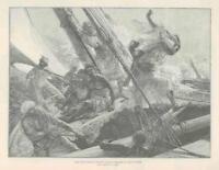 1889  Antique Print - FINE ART Arab Slave Traders Sketch J Bell   (290)