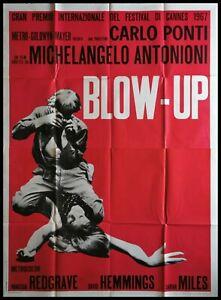 BLOW UP 1967 Original Movie Poster 55x78 4Sh Italian ANTONIONI REDGRAVE HEMMINGS