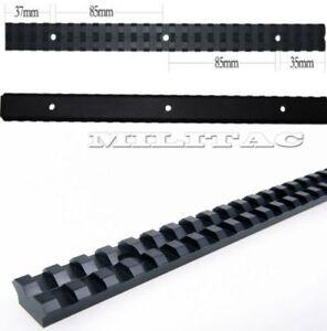 Picatinny Weaver Schiene 257mm lang 21mm Montagebreite flacher Boden Jagd