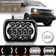 "7x6"" 5x7"" 200W LED Headlight DRL Hi-Lo DOT Beam for Chevrolet Express Cargo Van"