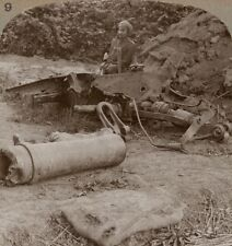 Out of Action. Remains of One of Our Howitzers, Blown Up by a Direct Hit