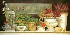 Kathryn White Marche aux Fleurs Keilrahmen-Bild 50x100 Leinwand Shabby Stilleben