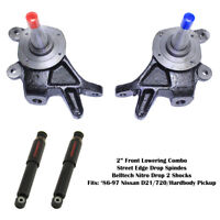 """2"""" Drop Front Lowering Kit for 86-97 Nissan D-21/Hardbody 2WD Spindles ND2 shock"""