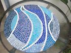 vintage handmade ceramic mosaic tiled lazy susan 42cm circumference 1960s era