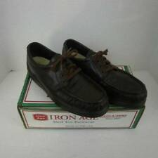 Iron Age Steel Toe Shoes Brown Leather Mens 9.5 W Made in USA