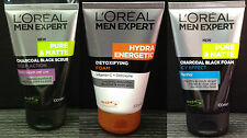 3x 100mL LOREAL MEN EXPERT Pure Matte Charcoal Hydra ViC Face Wash Foam Cleanser