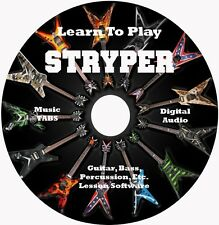 Stryper Guitar,Bass,Drum TABS, 49 Songs! Lesson CD for Windows,Linux,MAC