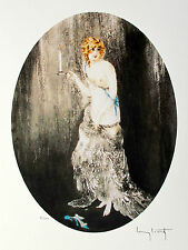 """LOUIS ICART """"BEDTIME"""" Signed Limited Edition Small Giclee Art"""