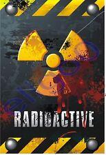 Warnhinweis Danger Radioactive Aufkleber Autoaufkleber LKW Vorsicht WOHNWAGEN