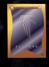 1997 Collector's Edge Masters Atlanta Falcons Flag Insert Schedule Card