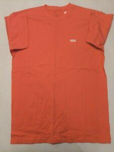 Vans New Left Chest Logo Tee Short Sleeve Coral T-Shirt Men's Size Medium