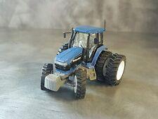1/64 Farm custom scratch tractor tire kit 6 tires white + axle